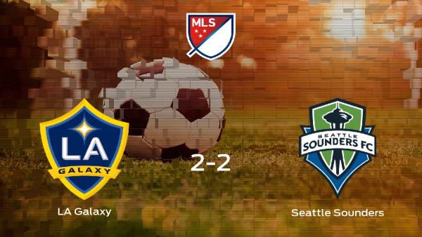 El Seattle Sounders consigue un empate a 2 frente al LA Galaxy