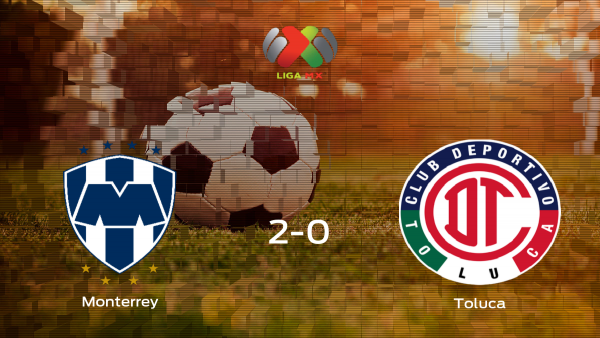 El Monterrey logra la victoria ante el Toluca (2-0)