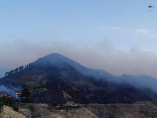 Incendio forestal de Valleseco (Gran Canaria)