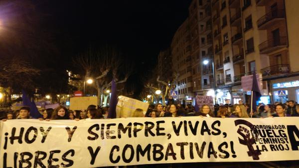 Imagen de una manifestación del 8 de marzo.