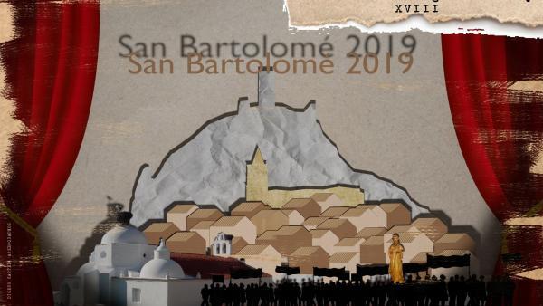 Cartel de las fiestas de San Bartolomé en Alange