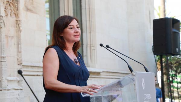 La presidenta del Govern, Francina Armengol, durante su intervención en la toma de posesión de los consellers, archivo, recurso,