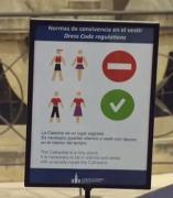 Normas de vestimenta en la Catedral de Sevilla