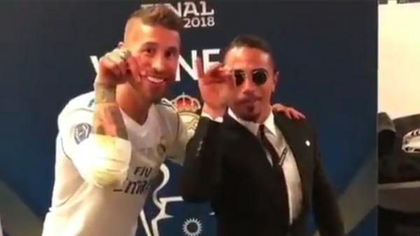Sergio Ramos con 'Salt Bae'