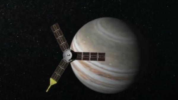Una sonda frente a Júpiter