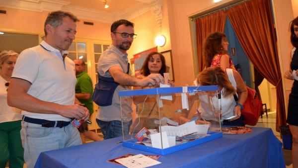 El público vota en el Festival de Cine de Comedia de Tarazona y el Moncayo.