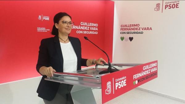 La secretaria de Organización del PSOE de Extremadura, Marisol Mateos
