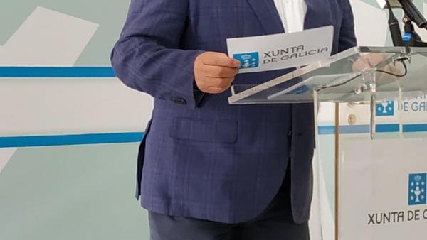 El delegado de la Xunta en Lugo, José Manuel Balseiro, en rueda de prensa.