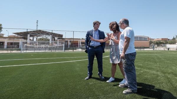 David Guevara del Ayuntamiento de Sevilla en el nuevo campo de Alcosa