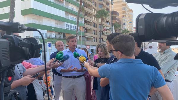 Antonio González Terol atiende a los medios