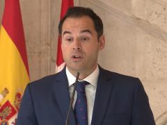 El vicepresidente del Gobierno de la Comunidad de Madrid, Ignacio Aguado, en una imagen de archivo, durante una rueda de prensa.