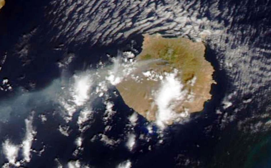 El incendio de Gran Canaria, desde el espacio. El incendio de Gran Canaria, visto desde el espacio.