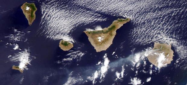 El incendio de Gran Canaria, visto desde el espacio