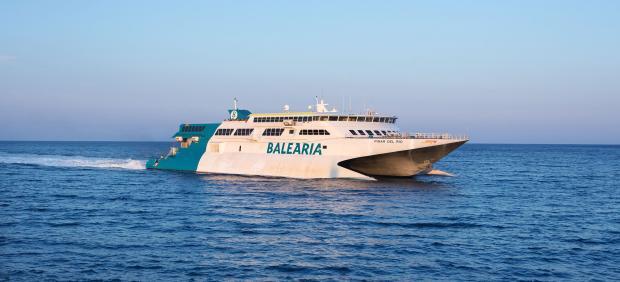 El buque Pinar del Río de Baleària, antes del accidente.
