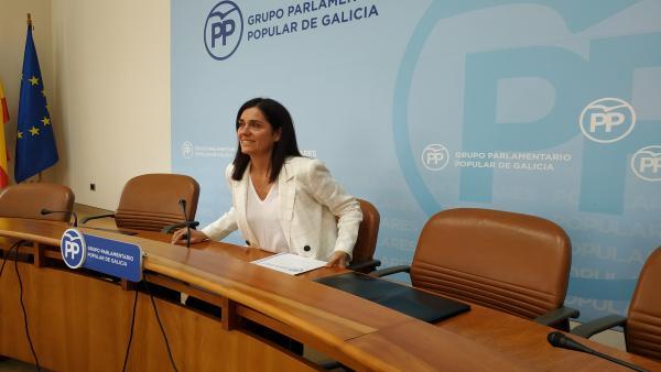 Paula Prado durante la rueda de prensa de este lunes.
