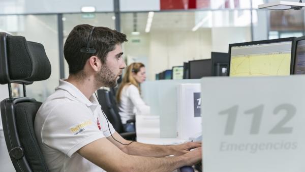Teleoperadores del Servicio Emergencias 112 Andalucía.
