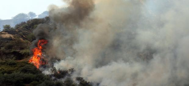 Uno de los focos del incendio en Gran Canaria