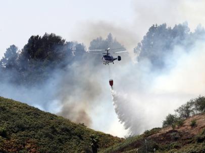 Medios aéreos en el incendio de Gran Canaria