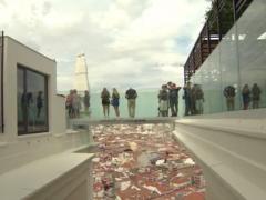 Pasarela acristalada del RIU Plaza de España