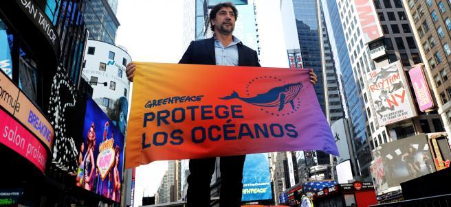 Bardem protesta en Nueva York