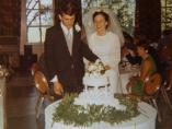 David y Anne Cowburn, el día de su boda