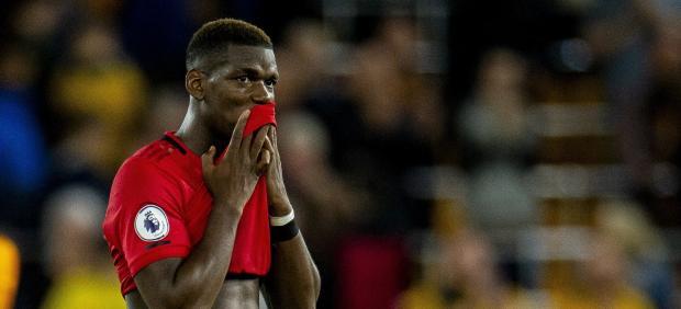 Paul Pogba falla un penalti contra el Wolverhampton