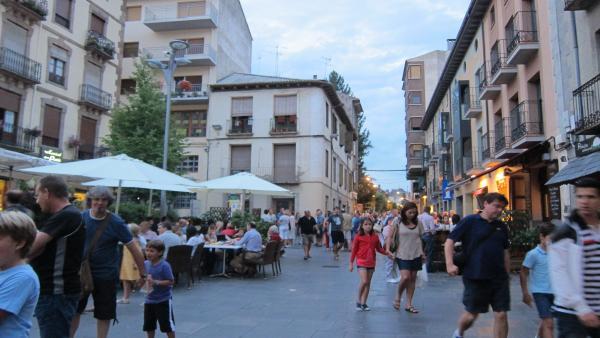 Las calles de Jaca en agosto