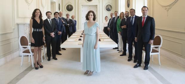 Imagen recurso de la presidenta de la Comunidad de Madrid, Isabel Díaz Ayuso, junto con sus consejeros