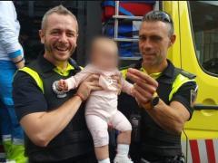 Policía Local salva a una bebé