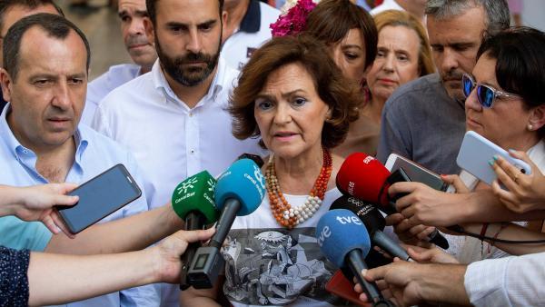 Carmen Calvo, vicepresidenta en funciones