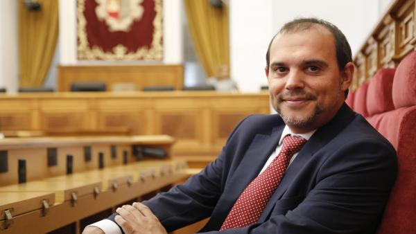 El presidente de las Cortes de C-LM, Pablo Bellido.