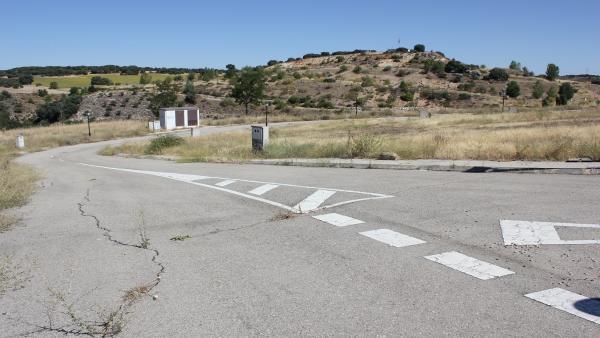 Terreno de las obras del Sector 9 de Yebes, paralizadas durante más de 10 años