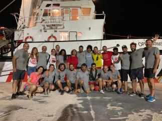 El equipo del barco de Open Arms