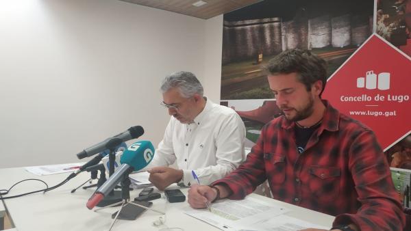 Rueda de prensa tras la junta de gobierno local de Lugo.