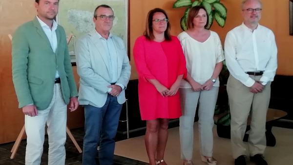 De izquierda a derecha: Eduardo Maynau, Juan Pedro Yllanes, Susana Mora, Maite Salord y Martí Ribas