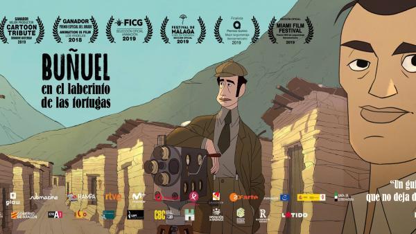 Banner de 'Buñuel en el laberinto de las tortugas'