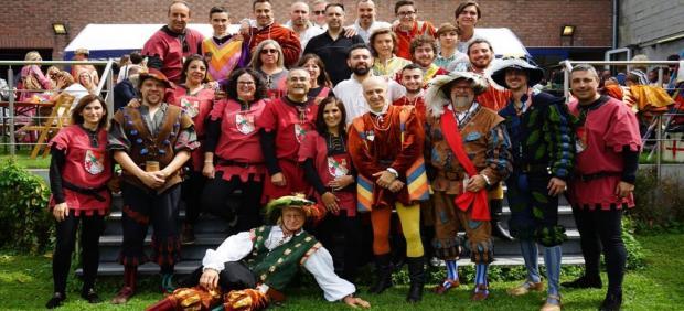 Comitivia del Ayuntamienhto de Torrijos para participar en las jornadas de recreación histórica medieval