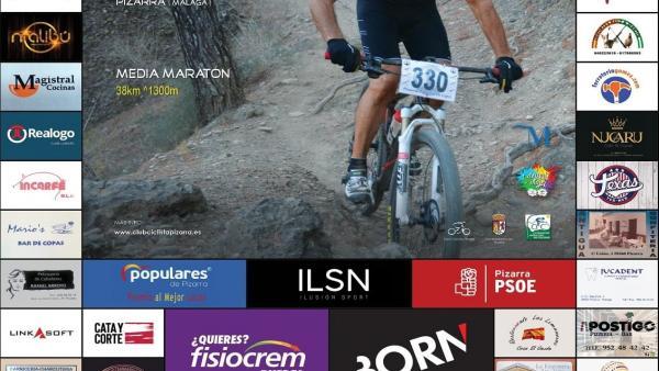 Cartel del Desafío Pizarreño del XXI Circuito Provincial BTT Diputación de Málaga