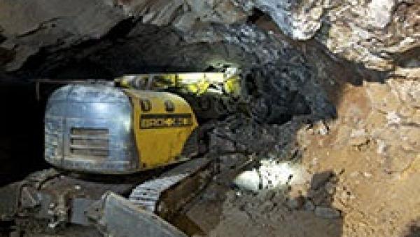 Maquinaria en la extracción de fluorita