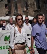 La diputada de Cs, Lourdes Guillén, en la manifestación de los ganaderos en Aínsa
