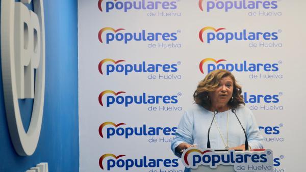 Carmen Céspedes, en rueda de prensa.