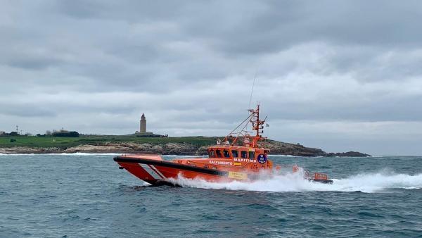 Rescate de efectivos de Salvamento Marítimo
