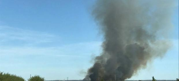 Incendio cerca de Saucedilla