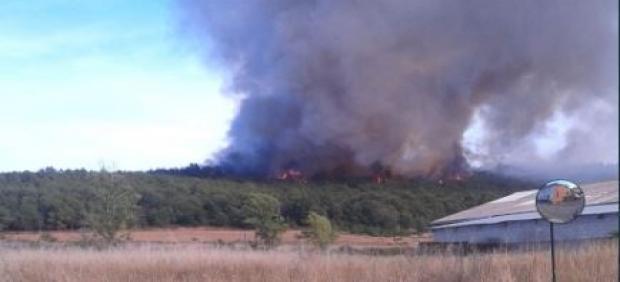Incendio en Villapadierna.