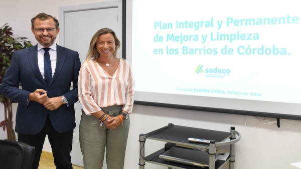 David Dorado e Isabel Albás presentan el Plan Integral de Mejora y Limpieza de Barrios de Sadeco