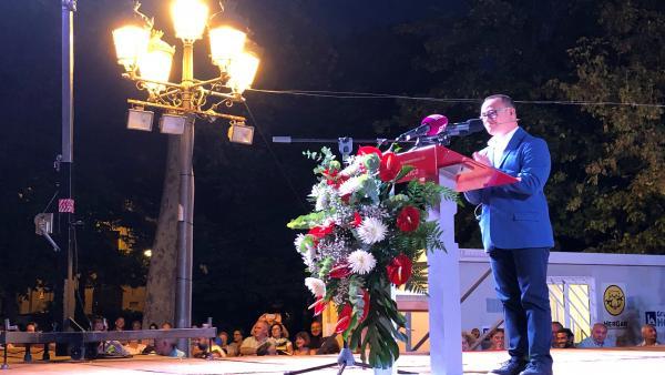 El joven ordenanza con Síndrome de Down Carlos Martínez ha sido el encargado de pregonar las Feriias y Fiestas de San Juilián de Cuenca 2019