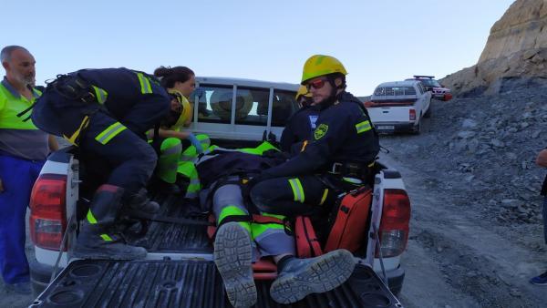 Operario accidentado en Poveda de la Sierra