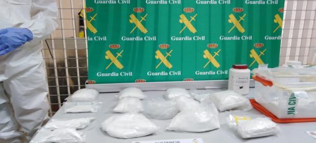 Cocaína incautada por la Guardia Civil en la operación antidroga en Mallorca.