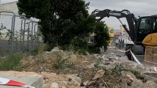 Gmpp Toledo (Nota De Prensa Y Fotografías) Corrales Denuncia El Arranque Innecesario De Especies Vegetales Durante Unos Trabajos De Acerado En El Polígono Industrial 230819