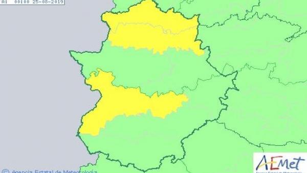 Avisos amarillos por calor en Extremadura